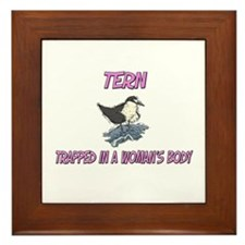 Tern Trapped In A Woman's Body Framed Tile