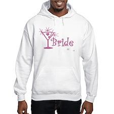 Pink Curly Martini Bride Hoodie
