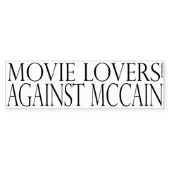 Movie Lovers Against McCain (white)