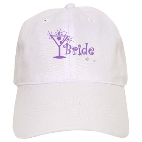 Purple Curly Martini Bride Cap