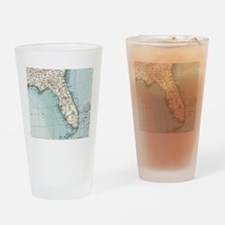 Vintage Map of Florida (1900) Drinking Glass