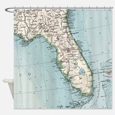 Vintage Map of Florida (1900) Shower Curtain