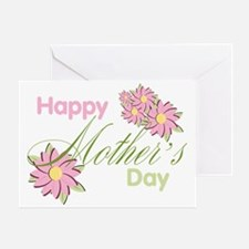 Happy Mother's Day Pink Flowers Greeting Card