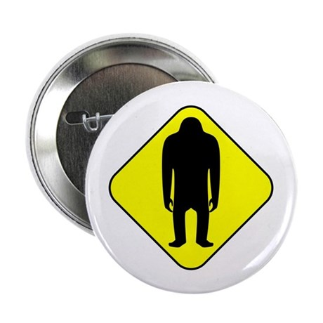 "Sasquatch Road Sign 2.25"" Button (10 pack)"
