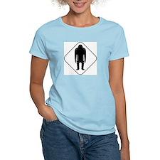 Sasquatch Road Sign Women's Pink T-Shirt