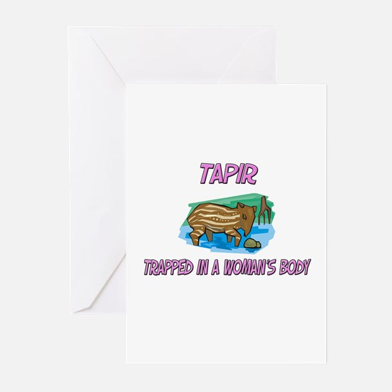 Tapir Trapped In A Woman's Body Greeting Cards (Pk