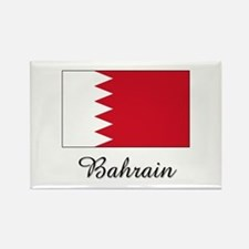 Bahrain Flag Rectangle Magnet