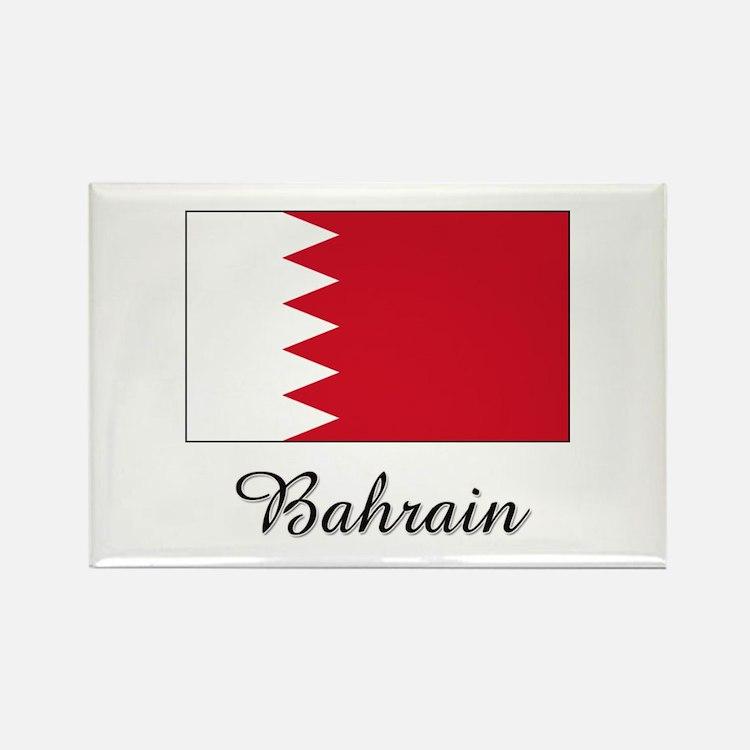 Bahrain Flag Rectangle Magnet