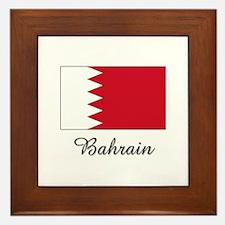 Bahrain Flag Framed Tile