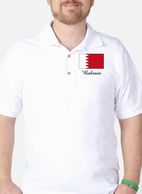 Bahrain Flag Golf Shirt