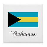Bahamas map and flag Drink Coasters