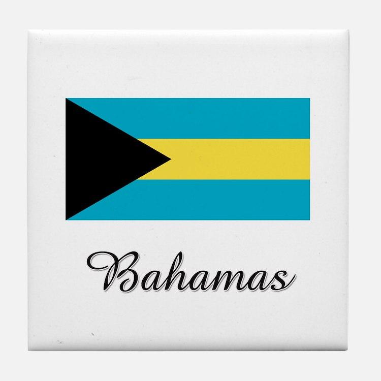 Bahamas Flag Tile Coaster