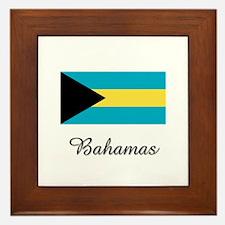 Bahamas Flag Framed Tile