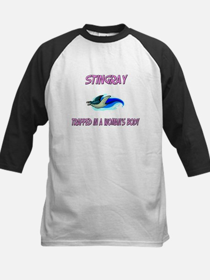 Stingray Trapped In A Woman's Body Kids Baseball J