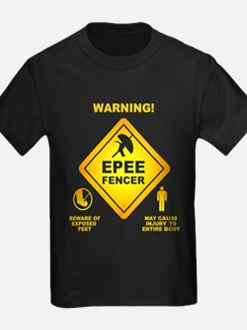 Warning! Epee Fencer T-Shirt