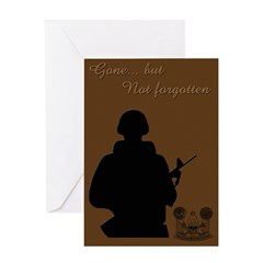 Gone, not forgotten Greeting Card