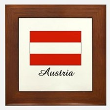 Austria Flag Framed Tile
