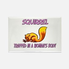 Squirrel Trapped In A Woman's Body Rectangle Magne