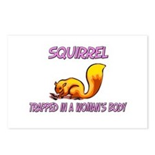 Squirrel Trapped In A Woman's Body Postcards (Pack