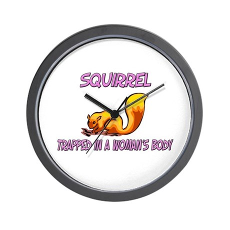 Squirrel Trapped In A Woman's Body Wall Clock