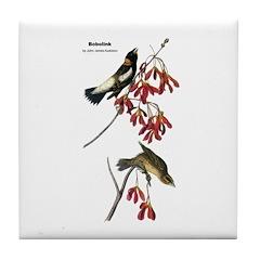 Audubon Bobolink Birds Tile Coaster