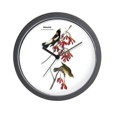 Audubon Bobolink Birds Wall Clock