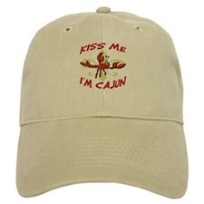 Kiss Me I'm Cajun Too Baseball Cap