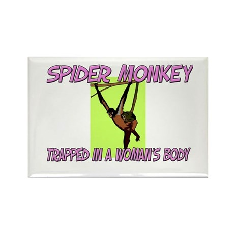 Spider Monkey Trapped In A Woman's Body Rectangle
