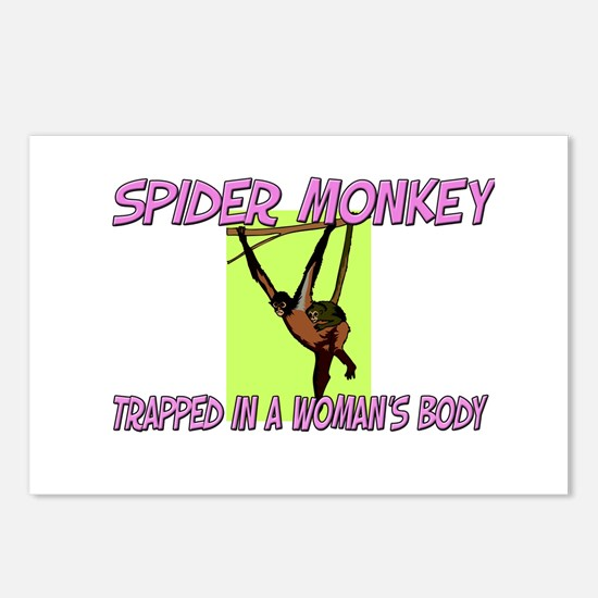 Spider Monkey Trapped In A Woman's Body Postcards