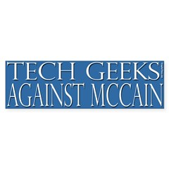 Tech Geeks Against McCain