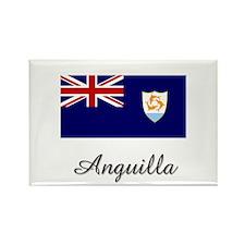 Anguilla Flag Rectangle Magnet