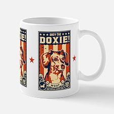 Obey the Doxie! USA Dachshund Mug