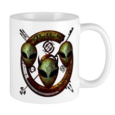 Tri-Alien Design 12 Mug