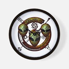 Tri-Alien Design 12 Wall Clock
