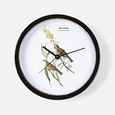 Audubon Dickcissle Birds Wall Clock