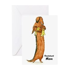 Longhaired Dachshund Mom Greeting Card