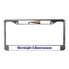 Outright Libertarians License Plate Frame