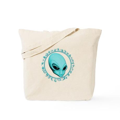 A.L.I.E.N. Encircled Aqua Tote Bag