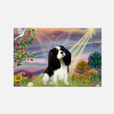 Cloud Angel Tri Cavalier Rectangle Magnet