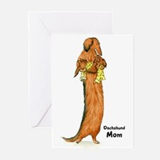 Longhaired Dachshund Mom Greeting Cards (Pk of 20)