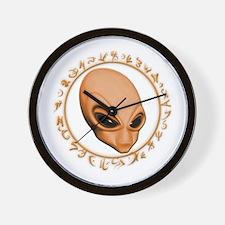 A.L.I.E.N. Encircled Orange Wall Clock