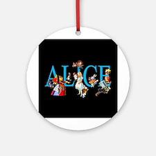 Alice in Black Ornament (Round)