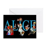 Alice in wonderland Greeting Cards