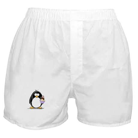 Ice Cream Sundae Penguin Boxer Shorts