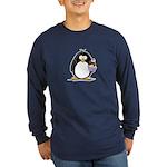 Ice Cream Sundae Penguin Long Sleeve Dark T-Shirt