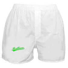 Retro Mathew (Green) Boxer Shorts