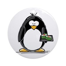 Sushi Penguin Ornament (Round)