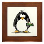 Sushi Penguin Framed Tile
