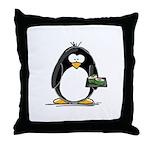 Sushi Penguin Throw Pillow