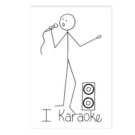 I Karaoke Postcards (Package of 8)